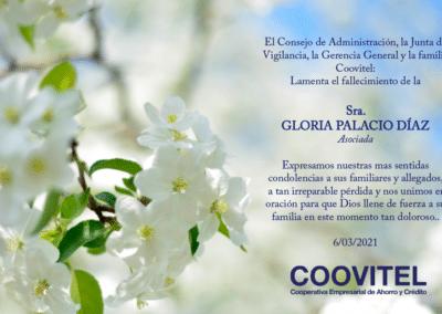Obituario Gloria Palacios